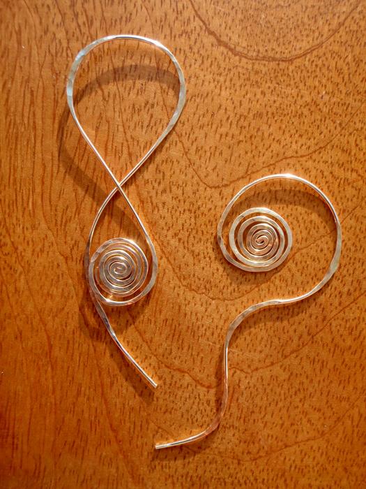 silver mismatch earrings