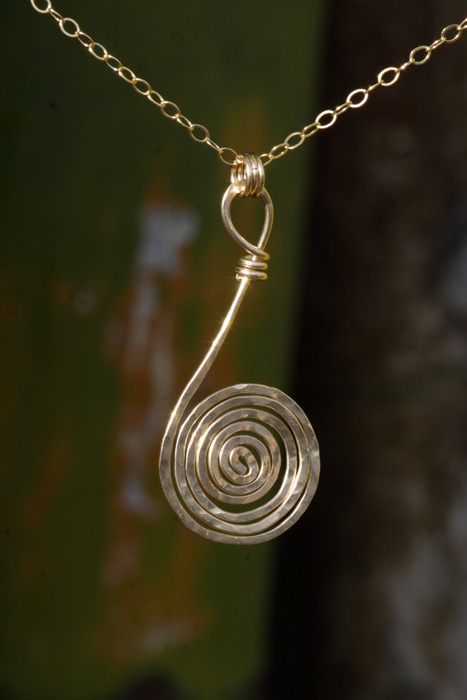 41. gold spiral necklace