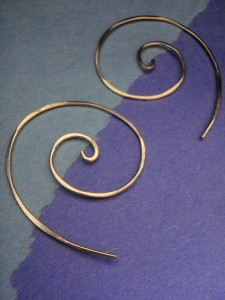 14KGF spiral eearrings