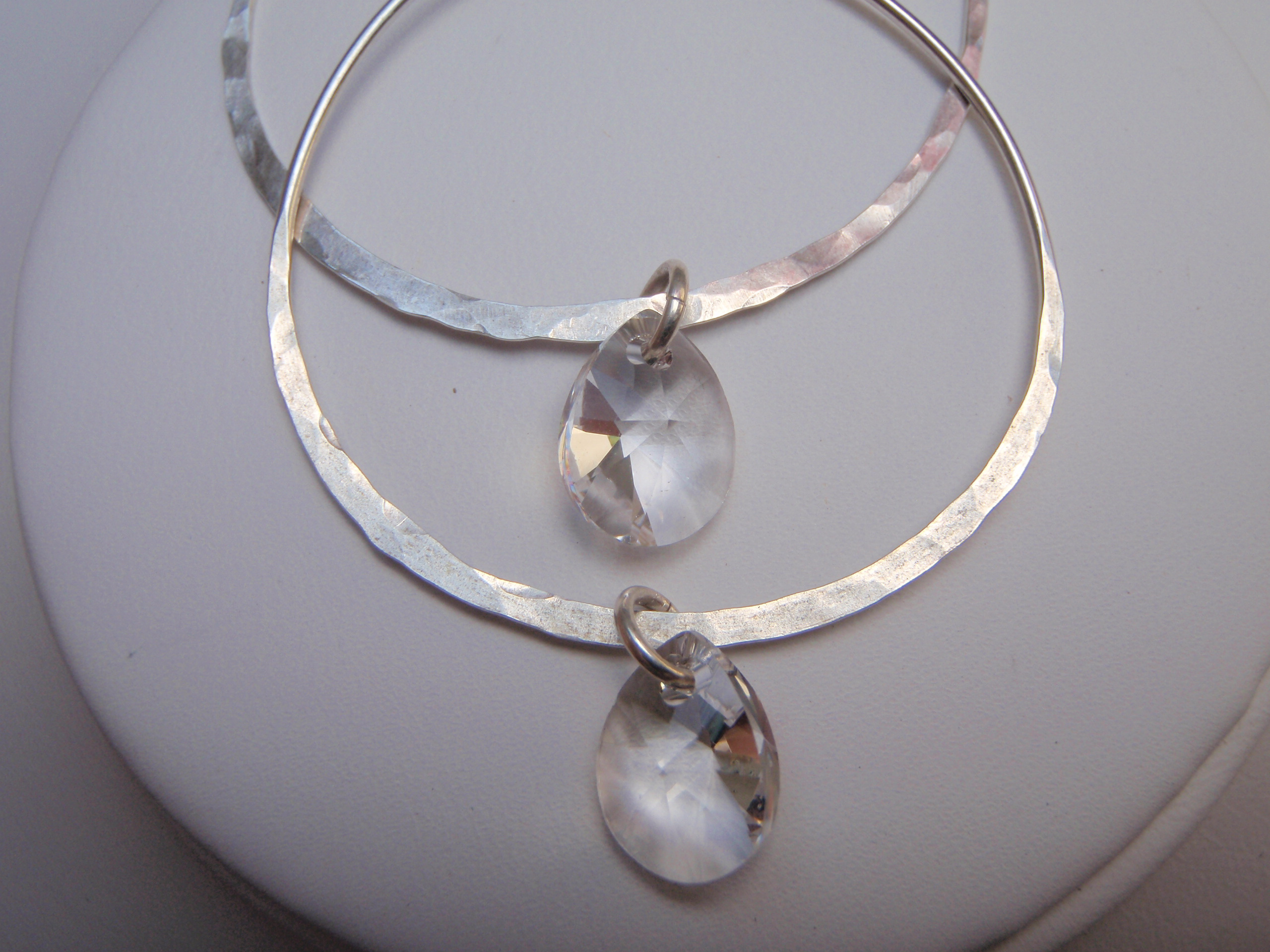 light weight large silver hoop earrings hawaii by toni cordas